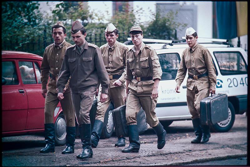 POTSDAM 1991-08-20: Sovjetiska trupper lämnar Östtyskland. @Foto: Jurek Holzer/oskarpmask